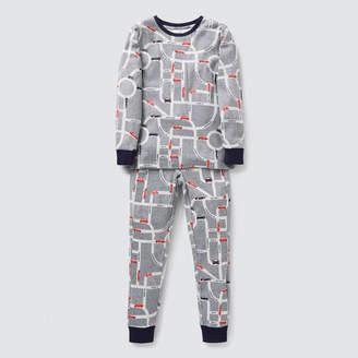 Long Sleeve Car Yardage Pyjama Set