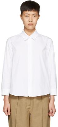 Jil Sander White Valentina Shirt $595 thestylecure.com