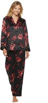 Apt. 9 Women's Satin Top & Pants Pajama Set