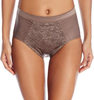 Wonderbra Women's Light Tummy Control Brief with Print Detail