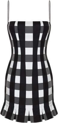 Rasario Plaid Satin Mini Dress