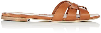 Saint Laurent Women's Nu Pieds Leather Slide Sandals $595 thestylecure.com