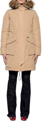 Woolrich Camel Military Parka Hooded Down Jacket