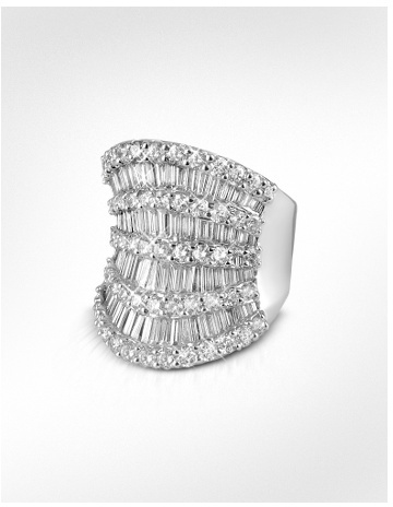 Forzieri Diamond Shield 18K White Gold Band