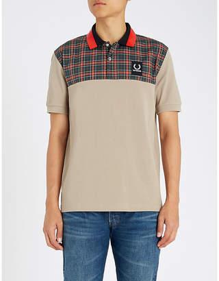 Fred Perry Checked yoke cotton-piqué polo shirt