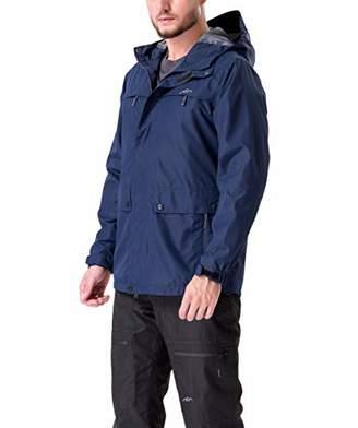 Co Trailside Supply Co.Men's Lightweight Ski Jacket Waterproof Hooded Snow Coat Snowboarding Outerwear (