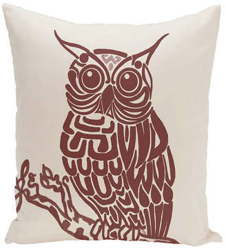 E By Design 16 Inch Off White and Rust Decorative Safari Throw Pillow