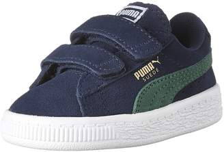 Puma Boy's Suede 2 Straps Inf Sneakers, Blue Depths/Verdant Green