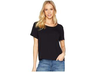 Splendid Rayon Jersey Crop Pocket Tee