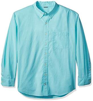 Izod Men's Newport Oxford Solid Long Sleeve Shirt (Big and Tall)