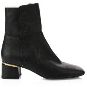 Tod's Cuoio Gomma Leather Booties