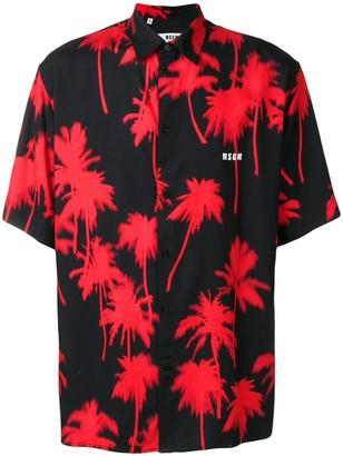 MSGM palm tree shirt
