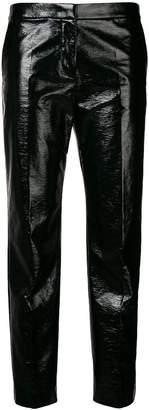 Mantu wet look cropped trousers