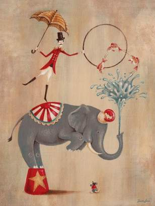 Oopsy Daisy Fine Art For Kids Oopsy daisy, Fine Art for Kids Vintage Circus Elephant Stretched Canvas Art by Sarah Lowe