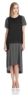 DKNY PURE Mixed Media Step Hem Dress