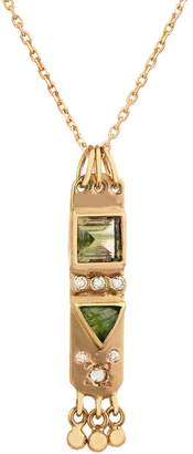 Celine Daoust Totem Green Tourmaline and Diamond Chain Necklace
