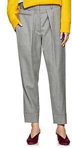 Cédric Charlier Women's Pleated Wool Slim Trousers - Gray
