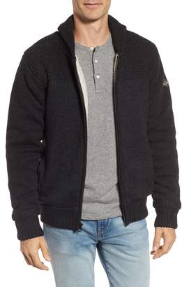 Schott NYC Lined Wool Zip Sweater