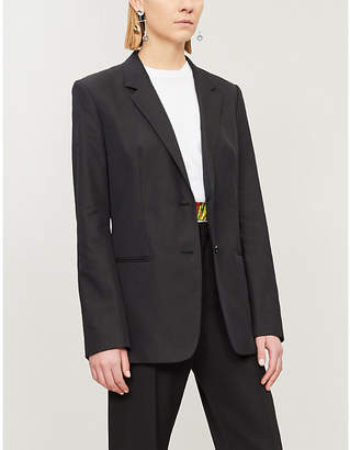 Helmut Lang Single-breasted cotton-blend jacket