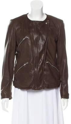 Etoile Isabel Marant Collarless Leather Jacket