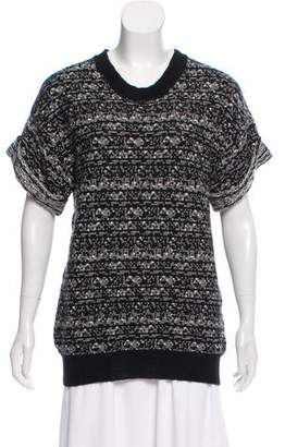 IRO Alpaca Short Sleeve Sweater