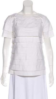 Tory Burch Short Sleeve Tiered Top