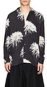 Double Rainbouu Men's Space Junk Floral-Print Oversized Shirt