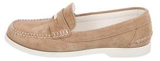 Chanel CC Suede Loafers
