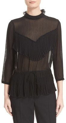 Women's Tracy Reese Crinkle Georgette Victorian Blouse $298 thestylecure.com