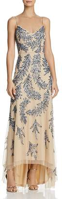 Aidan Mattox Sequin-Embellished Gown