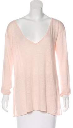 Calypso Linen Jersey Long Sleeve Top w/ Tags