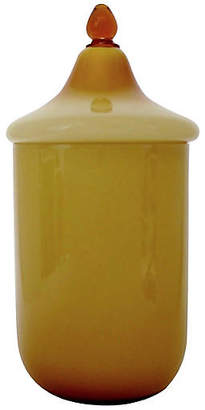 One Kings Lane Vintage Amber Cased Glass Canister - Retro Gallery