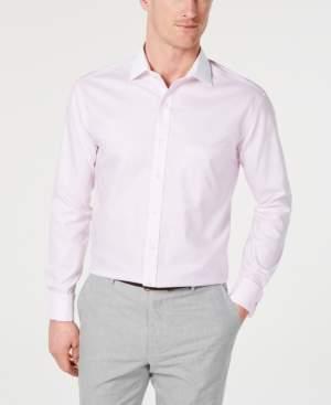 Tasso Elba Men's Slim-Fit Non-Iron Supima Cotton Twill Bar Stripe French Cuff Dress Shirt, Created for Macy's