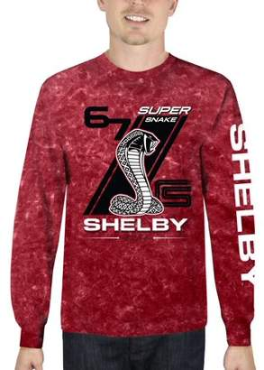 Automotive Shelby Super Snake Men's Long Sleeve Mineral Wash Graphic Tee