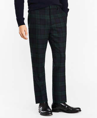 Brooks Brothers Donegal Lambswool Black Watch Tartan Trousers