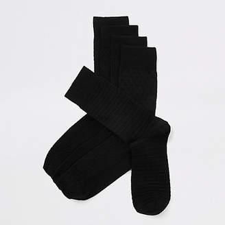 River Island Black bamboo socks multipack