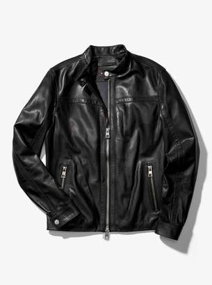 Michael Kors Leather Racing Jacket