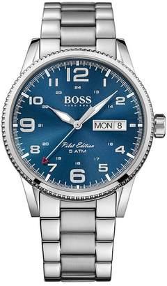 BOSS Pilot Vintage Quartz Analog Bracelet Watch, 44mm