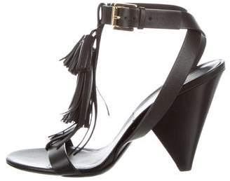 Michael Kors Leather Tassel Sandals