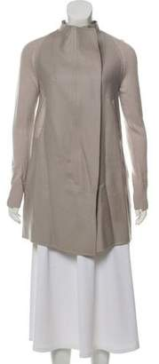 M.PATMOS Wool Leather-Trimmed Cardigan