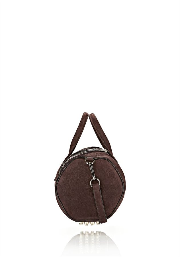 Alexander Wang Rockie In Tumbled Raisin With Pale Gold