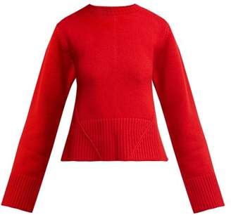 KHAITE Angie Cashmere Sweater - Womens - Red
