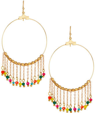 Panacea Fringe Hoop Drop Earrings