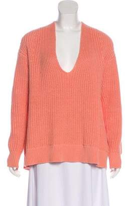 Alexander Wang Rib Knit V-Neck Sweater