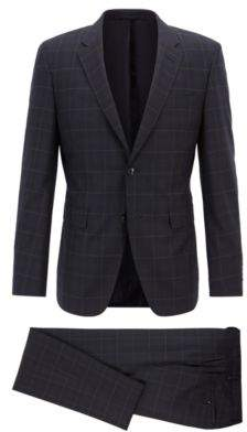 BOSS Hugo Tailored extra-slim-fit virgin-wool suit 40R Open Blue
