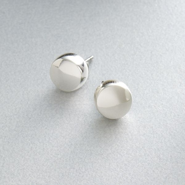 Sonoma Life + Style® Silver-Tone Button Stud Earrings
