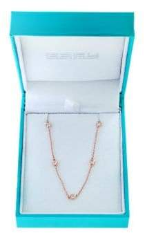 Effy Super Buy 14K Rose Gold and Diamonds Necklace