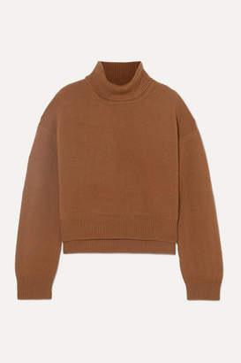 REJINA PYO Lyn Asymmetric Cashmere Turtleneck Sweater - Brown