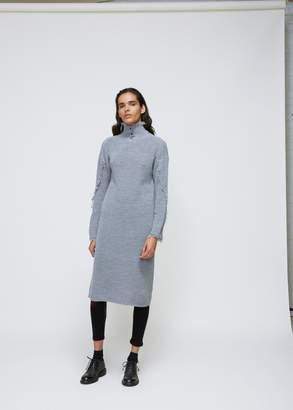 Yohji Yamamoto Collar Sleeve Fringe Dress