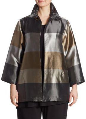 Caroline RoseCaroline Rose Shimmering Shades Striped Jacket